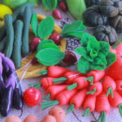 ミニチュアクレイクラフト 野菜の額