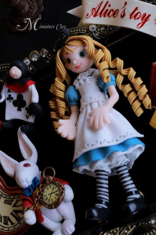 不思議の国のアリス ミニチュアクレイクラフト おもちゃの額