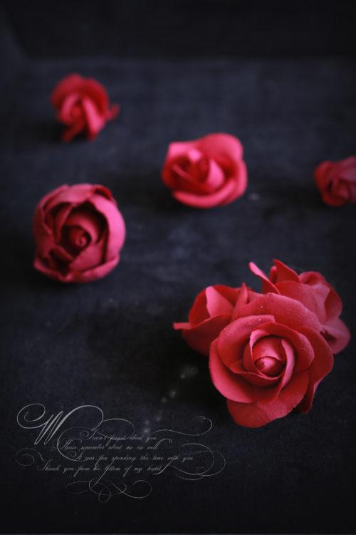 粘土でつくるバラ