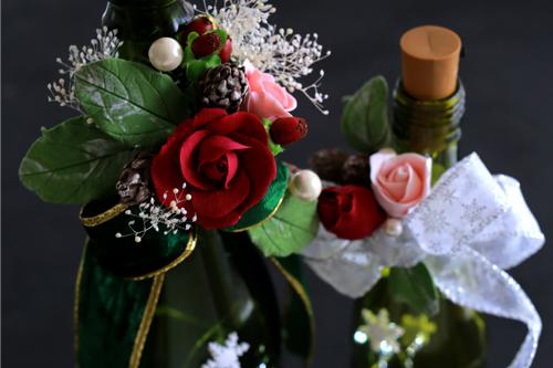 薔薇のワインボトルホルダーはこんな仕掛けがあります