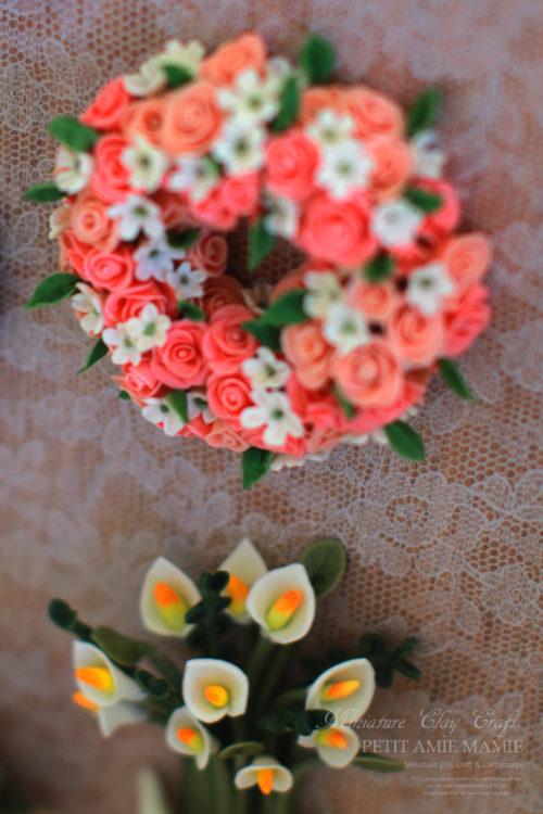 ミニチュアクレイクラフト お花の額