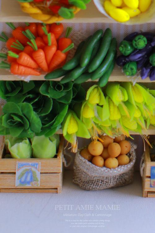 ミニチュアクレイクラフト 野菜