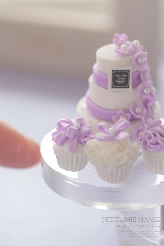 ミニチュア粘土 ケーキ