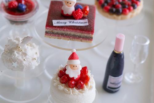 クリスマスのミニチュアケーキ