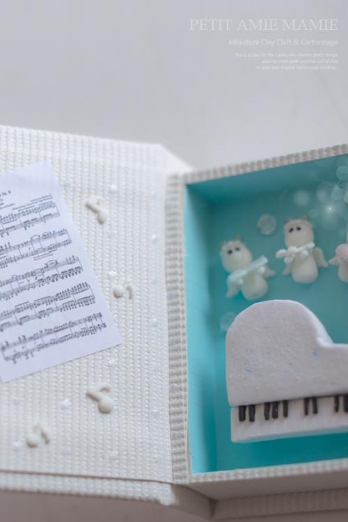 ミニチュア ピアノ 天使