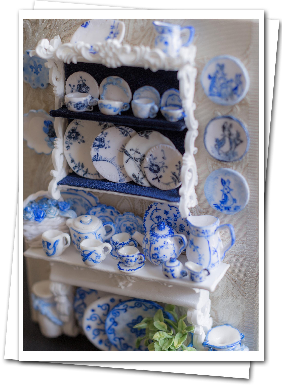 ミニチュアクレイクラフト お皿の額 ミニチュア粘土の食器