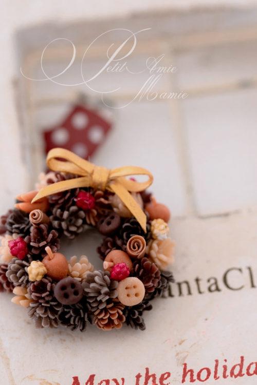 ミニチュア粘土のクリスマス