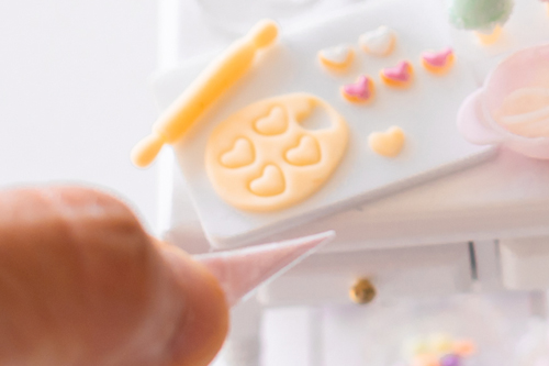 ミニチュア粘土 ミニチュアフード ミニチュアアイシングクッキー