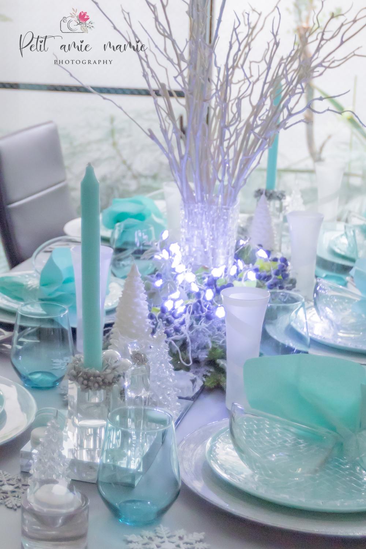 ティファニー クリスマス テーブルコーデ テーブルセッティング