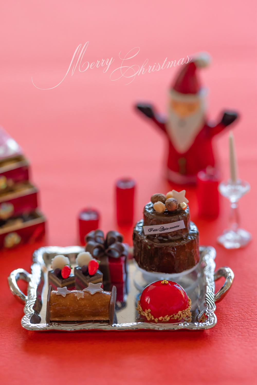 ミニチュアフード クリスマスオードブル  クリスマスケーキ